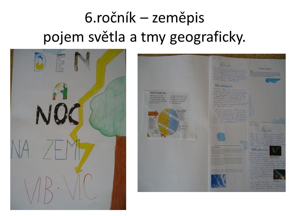 6.ročník – zeměpis pojem světla a tmy geograficky.