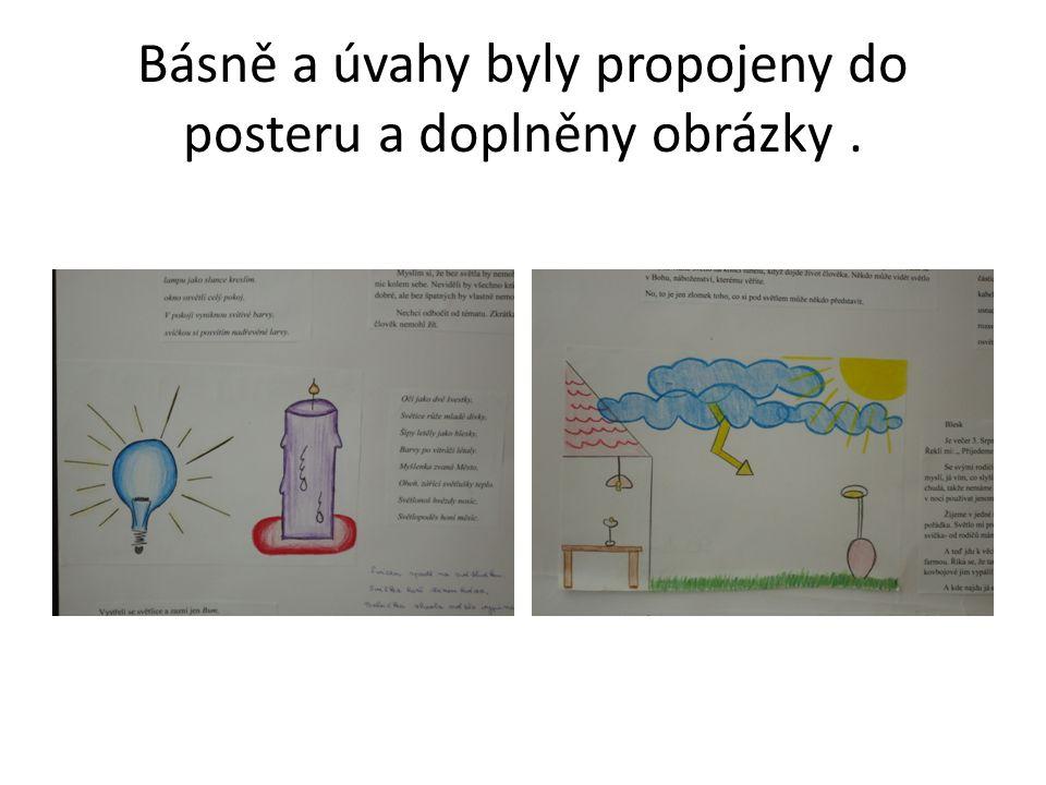 Básně a úvahy byly propojeny do posteru a doplněny obrázky.