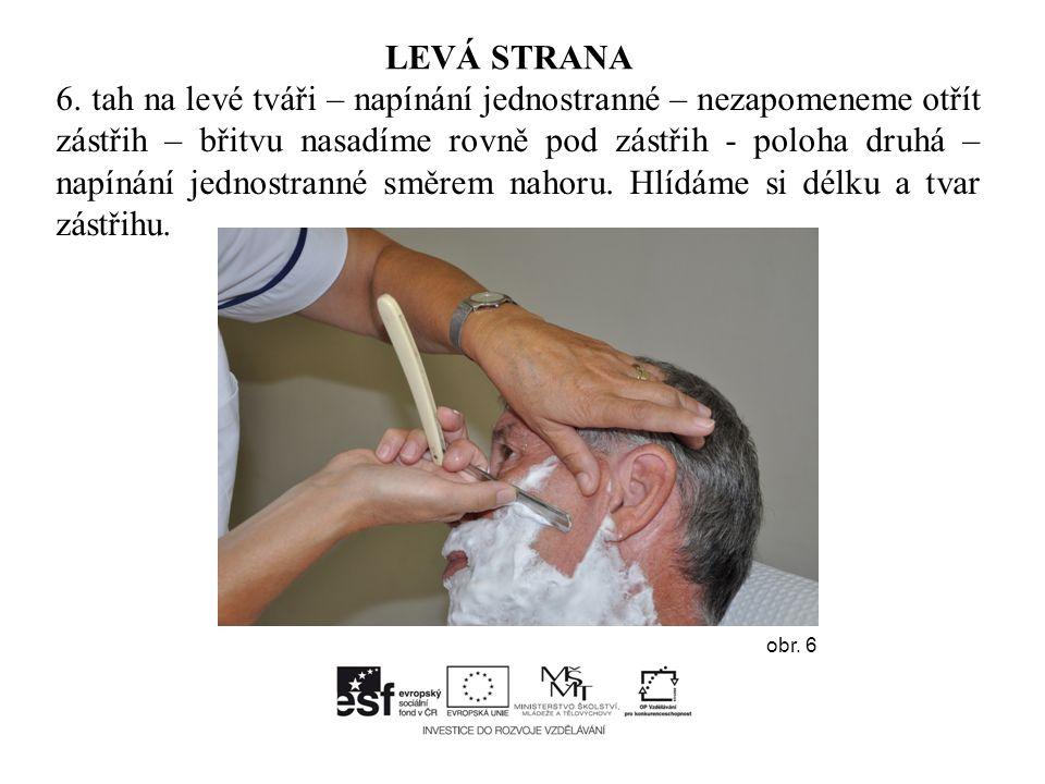 Názorná pomůcka k holení – pravá strana obličeje obr. 25