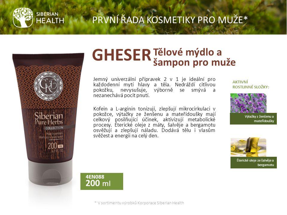 Tělové mýdlo a šampon pro muže 4EN088 200 ml Jemný univerzální přípravek 2 v 1 je ideální pro každodenní mytí hlavy a těla.