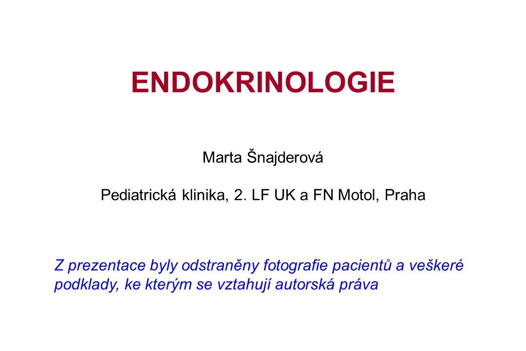 Zaměření oboru Poruchy funkce endokrinních žláz: Hypotalamus Hypofýza Štítná žláza Příštítná tělíska Pancreas Nadledviny Pohlavní žlázy