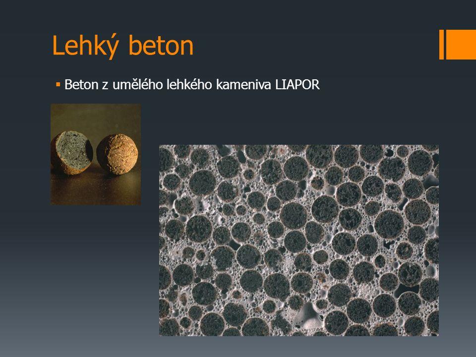 Lehký beton  Beton z umělého lehkého kameniva LIAPOR