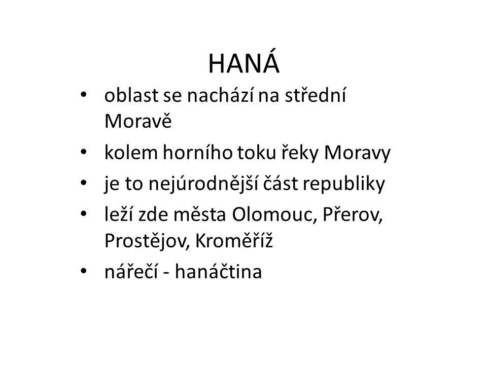 Kde leží Haná Olomouc,Prostějov, Přerov, Kroměříž