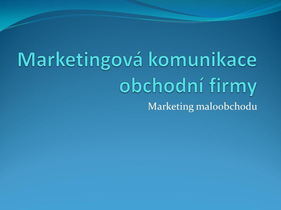Obsah 1.Marketingová komunikace v obchodní firmě 2.