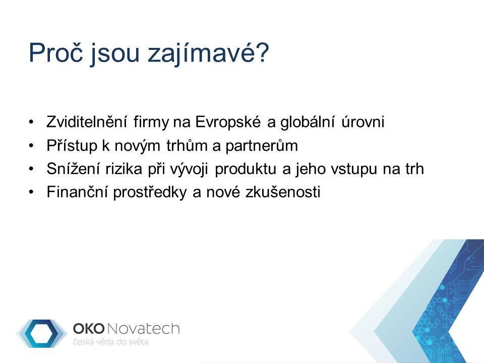 Potřebujete kvalitní myšlenku Exkluzivita v Evropském/světovém kontextu Dobrá uplatnitelnost na trhu Ekonomický/sociální/environmentální přínos Přesahuje váš obor