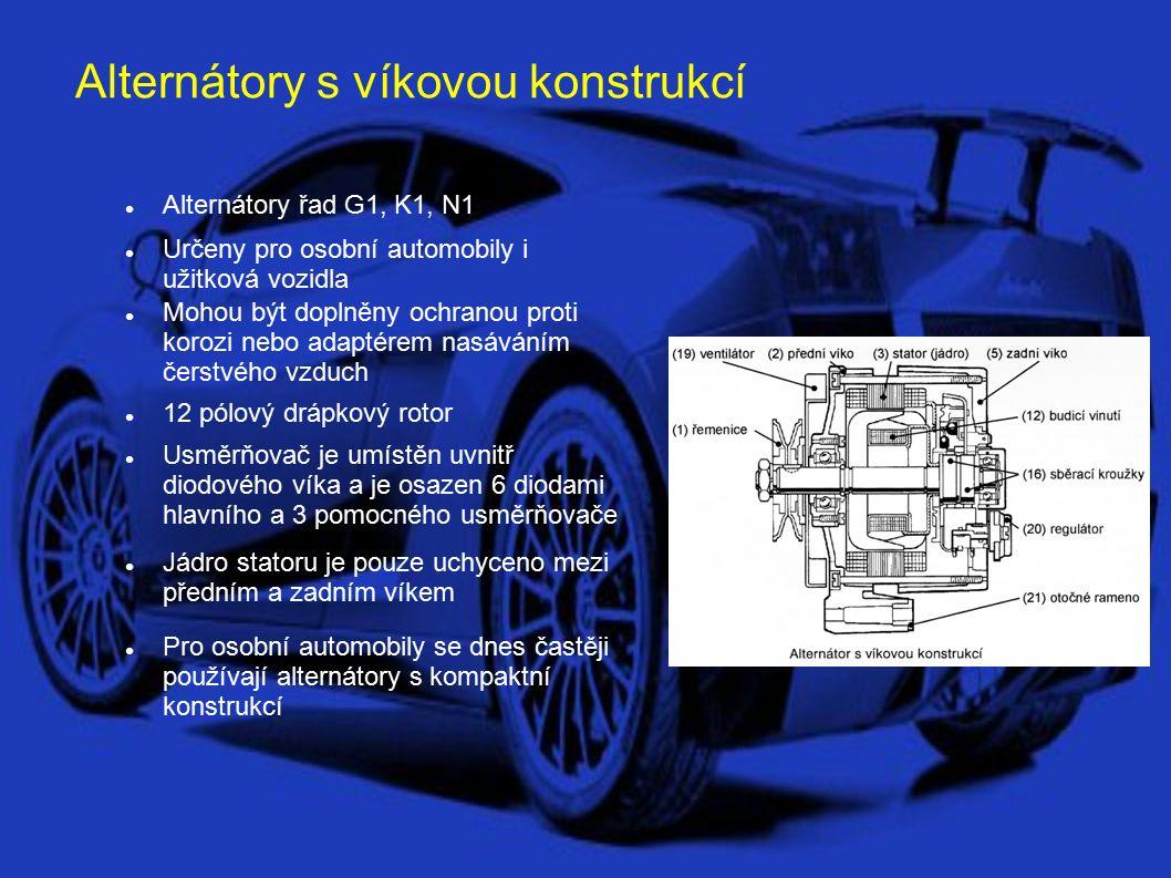 Dvojité alternátory Alternátory řad T1 Určeny pro vozidla odebírající větší proudy – např.