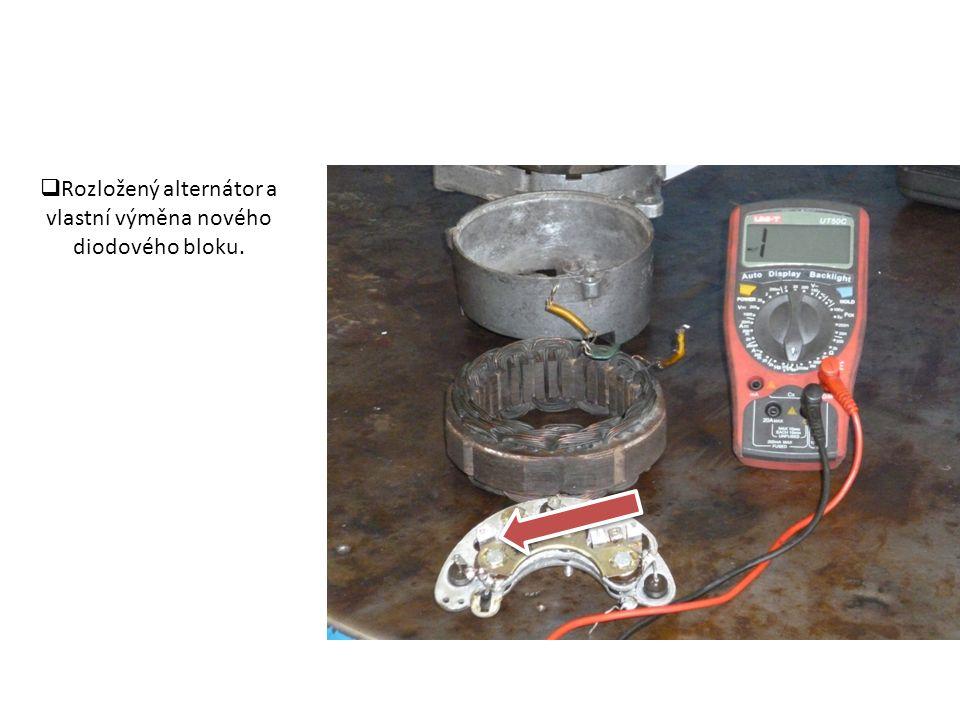  Od statoru odpájíme 3 fáze a 1 vodič od signalizace.