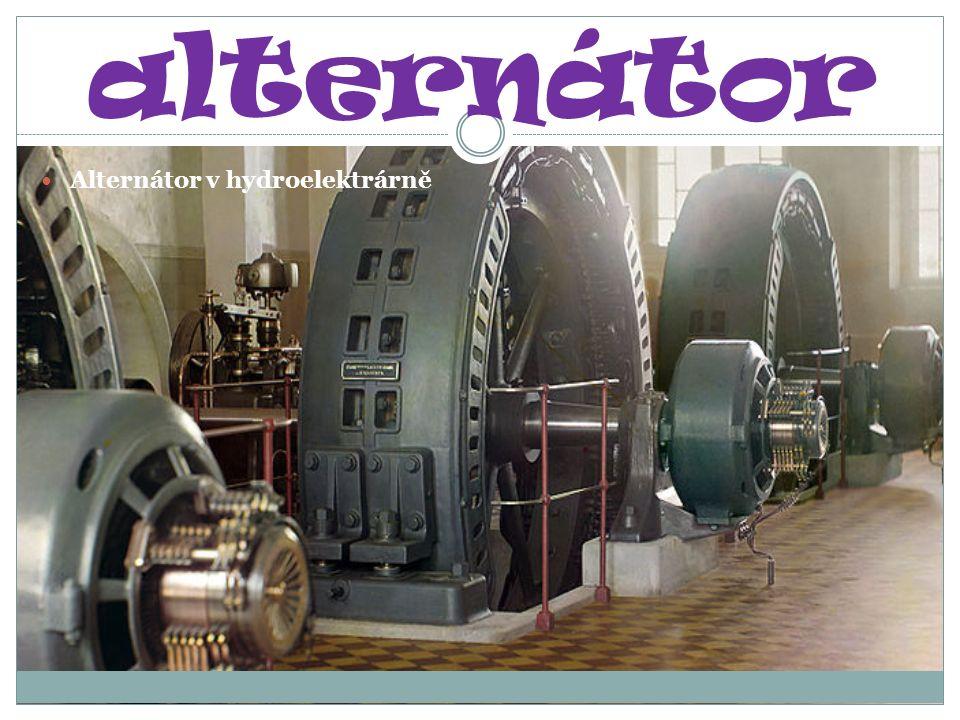 alternátor Alternátor v hydroelektrárně