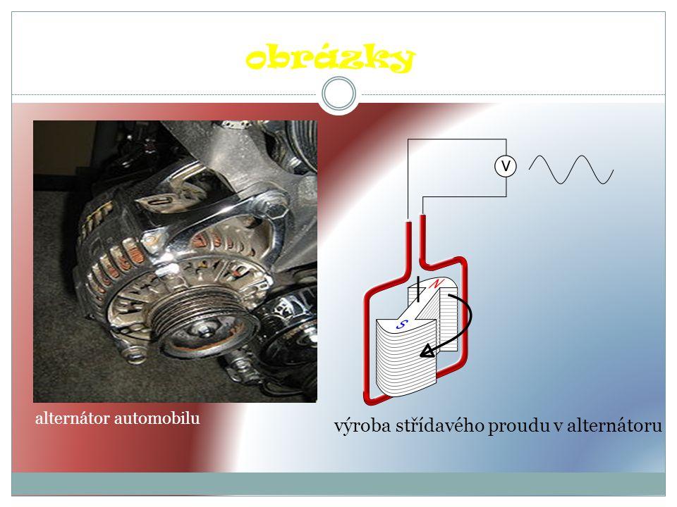 výroba střídavého proudu v alternátoru obrázky alternátor automobilu