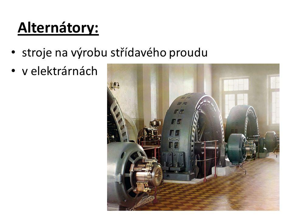 Alternátory: stroje na výrobu střídavého proudu v elektrárnách