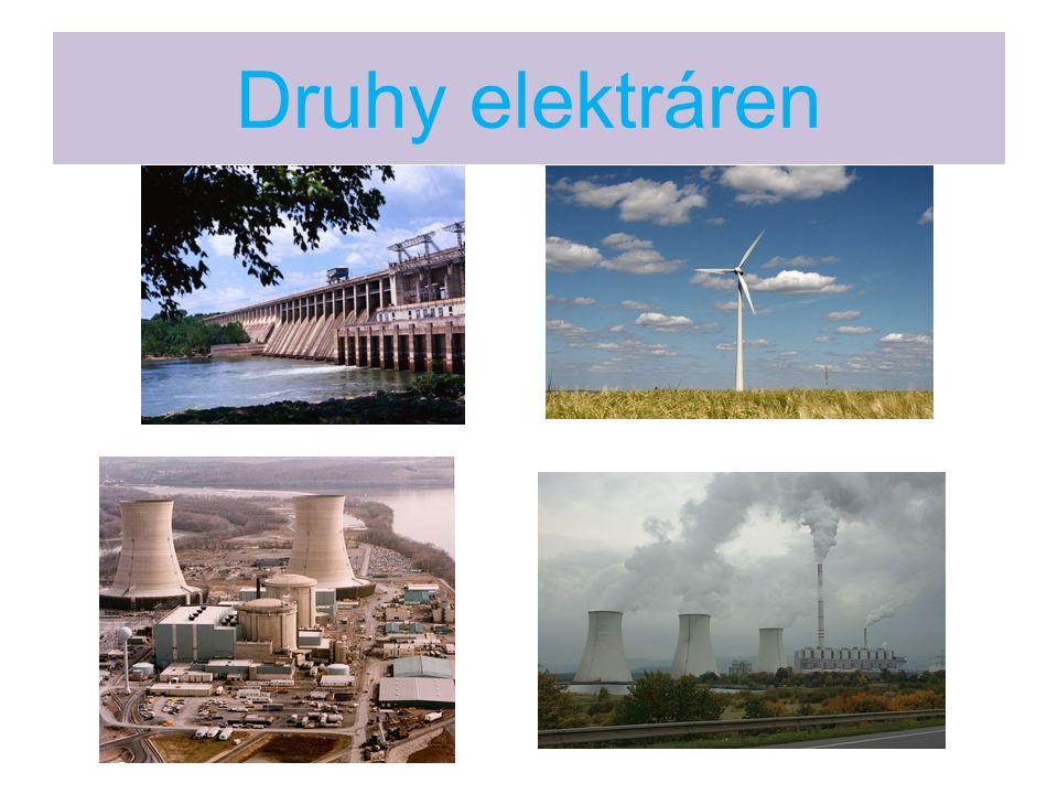Vodní elektrárny Vodní elektrárny vyrábí asi 17 % elektrické energie.