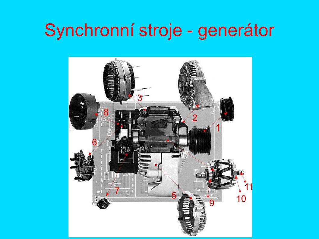 Synchronní stroje - generátor