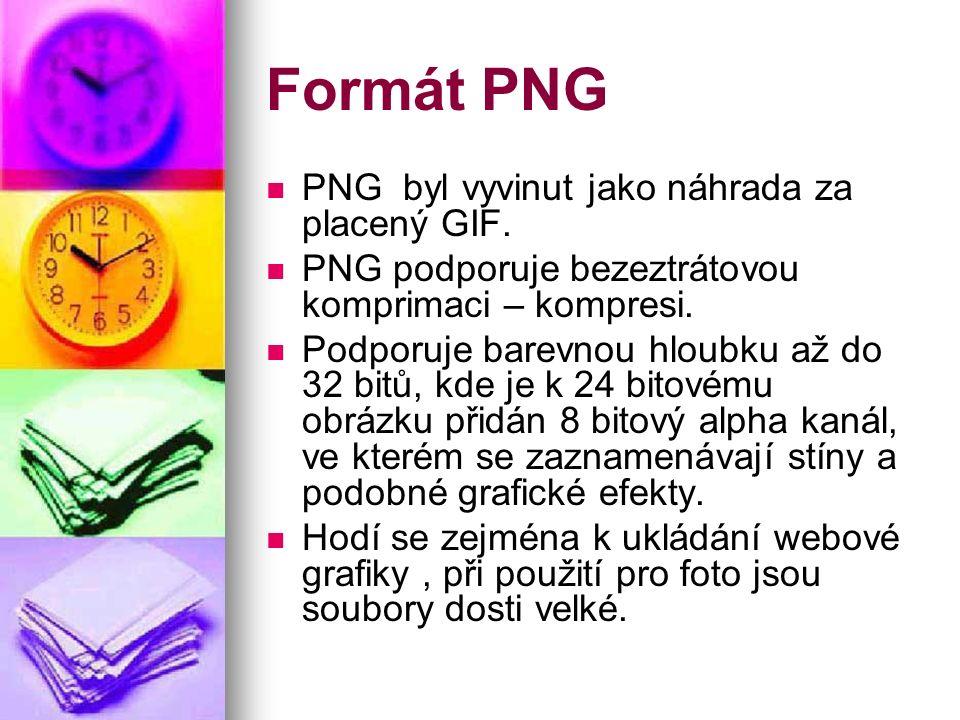 Formát PNG PNG byl vyvinut jako náhrada za placený GIF.