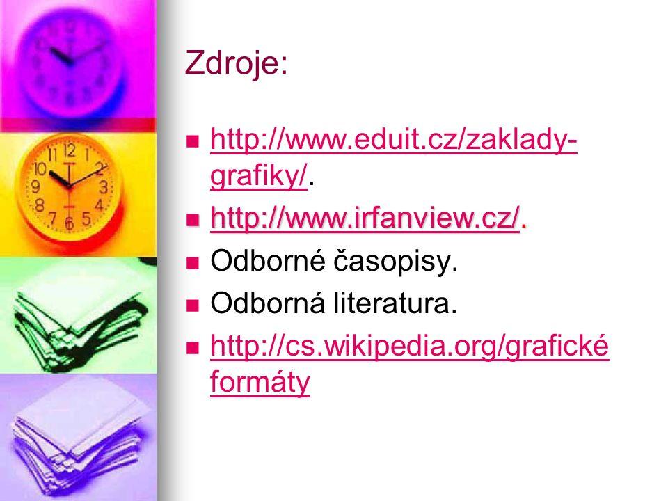 Zdroje: http://www.eduit.cz/zaklady- grafiky/.