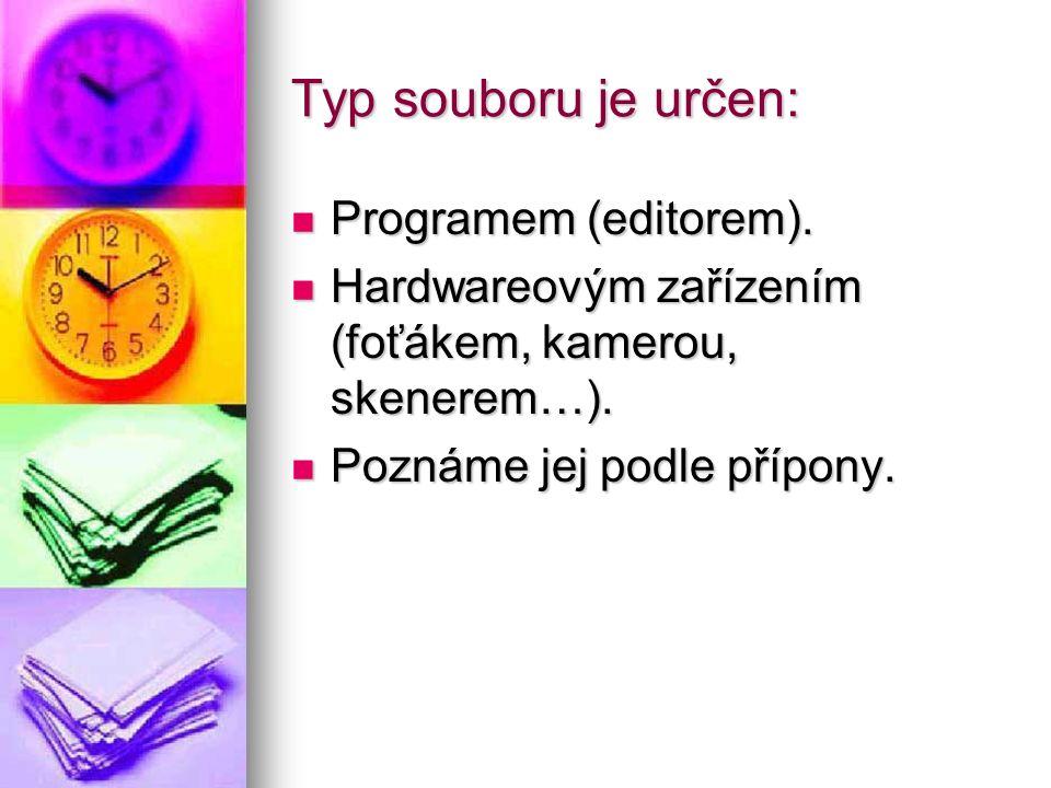 Typ souboru je určen: Programem (editorem). Programem (editorem).