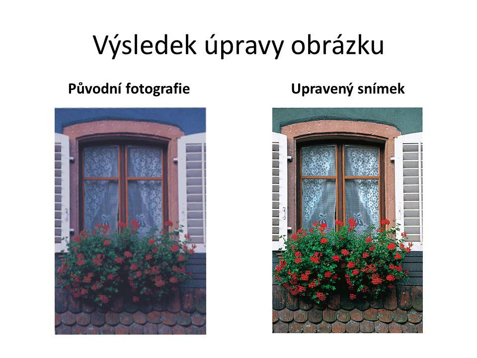 Výsledek úpravy obrázku Původní fotografie Upravený snímek