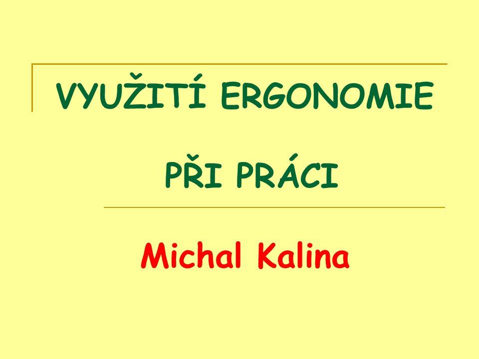 VYUŽITÍ ERGONOMIE PŘI PRÁCI Michal Kalina