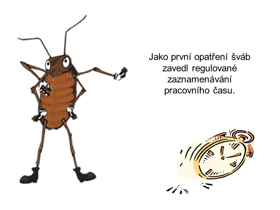 Jako první opatření šváb zavedl regulované zaznamenávání pracovního času.