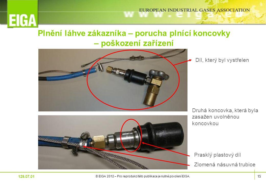 15 © EIGA 2012 – Pro reprodukci této publikace je nutné povolení EIGA.