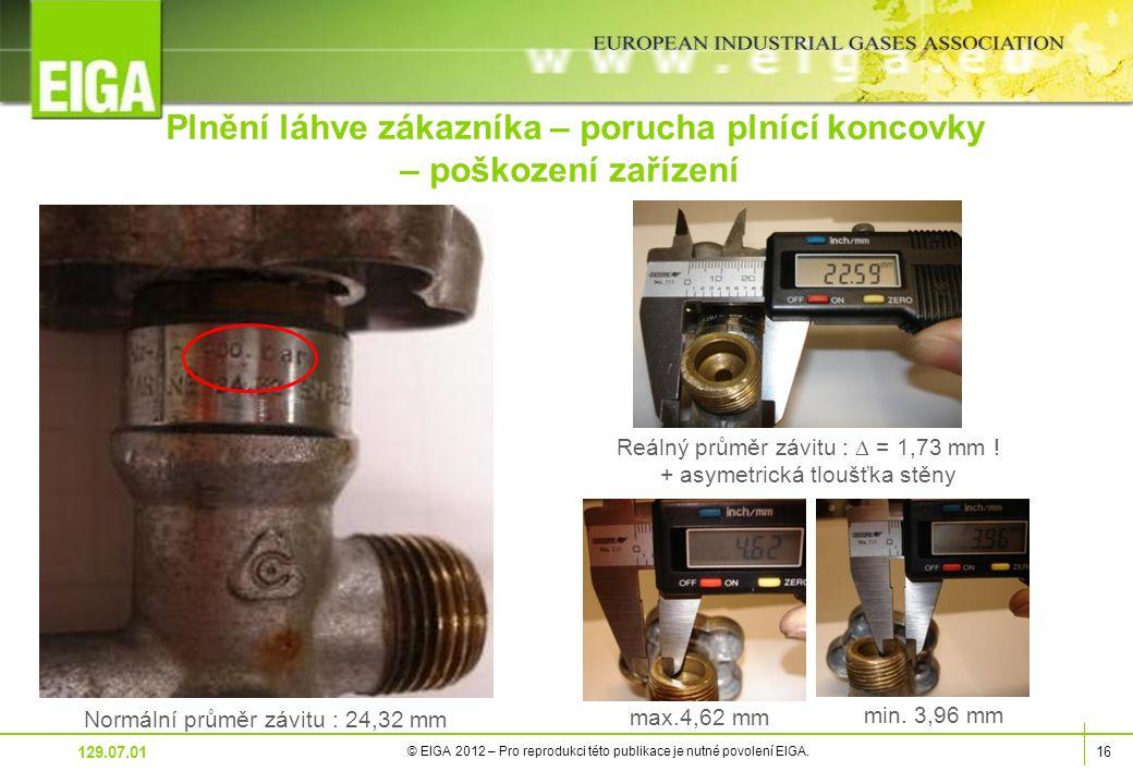 16 © EIGA 2012 – Pro reprodukci této publikace je nutné povolení EIGA.