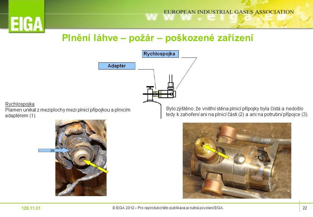 22 © EIGA 2012 – Pro reprodukci této publikace je nutné povolení EIGA.