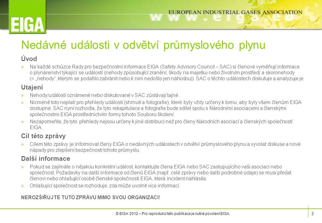 3 © EIGA 2012 – Pro reprodukci této publikace je nutné povolení EIGA.