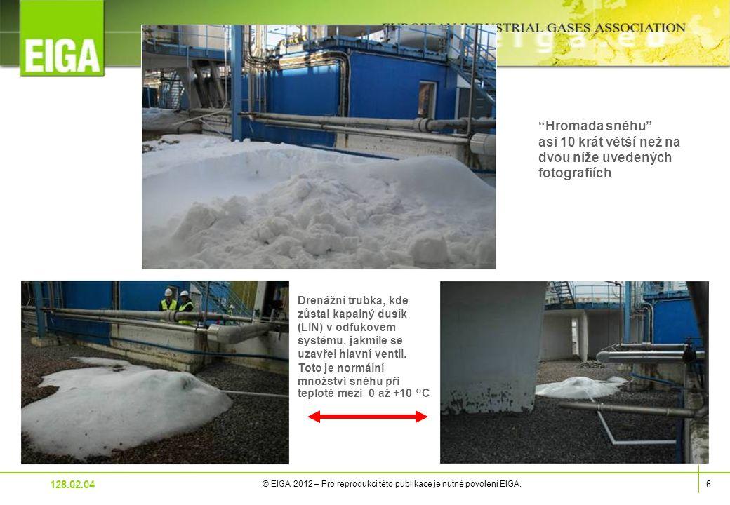6 © EIGA 2012 – Pro reprodukci této publikace je nutné povolení EIGA.