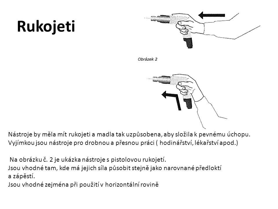 Rozestup mezi madly Drtící nebo štípací nástroje ( např.