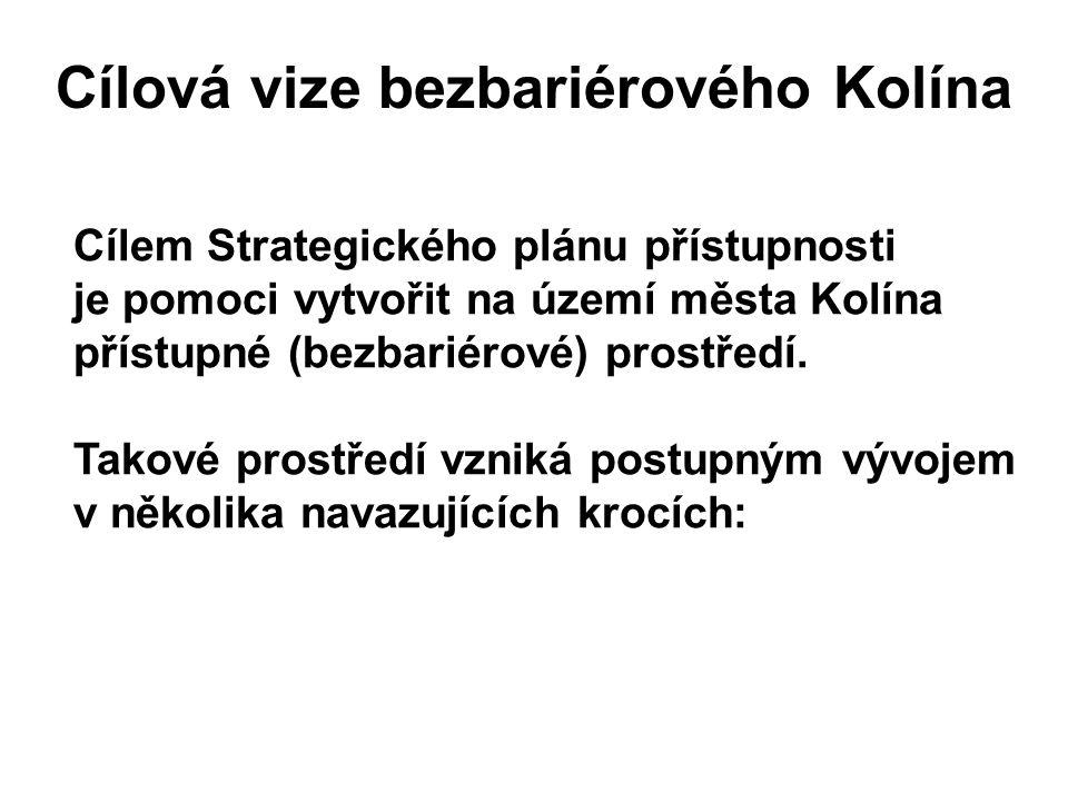 Cílová vize bezbariérového Kolína Cílem Strategického plánu přístupnosti je pomoci vytvořit na území města Kolína přístupné (bezbariérové) prostředí.