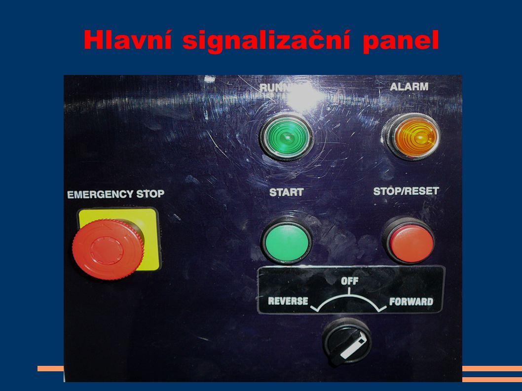 Hlavní signalizační panel