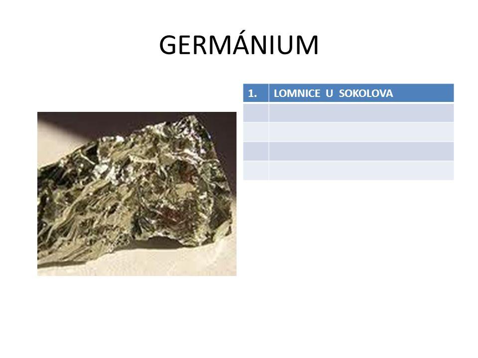 GERMÁNIUM 1.LOMNICE U SOKOLOVA