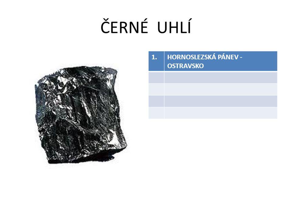 ČERNÉ UHLÍ 1.HORNOSLEZSKÁ PÁNEV - OSTRAVSKO