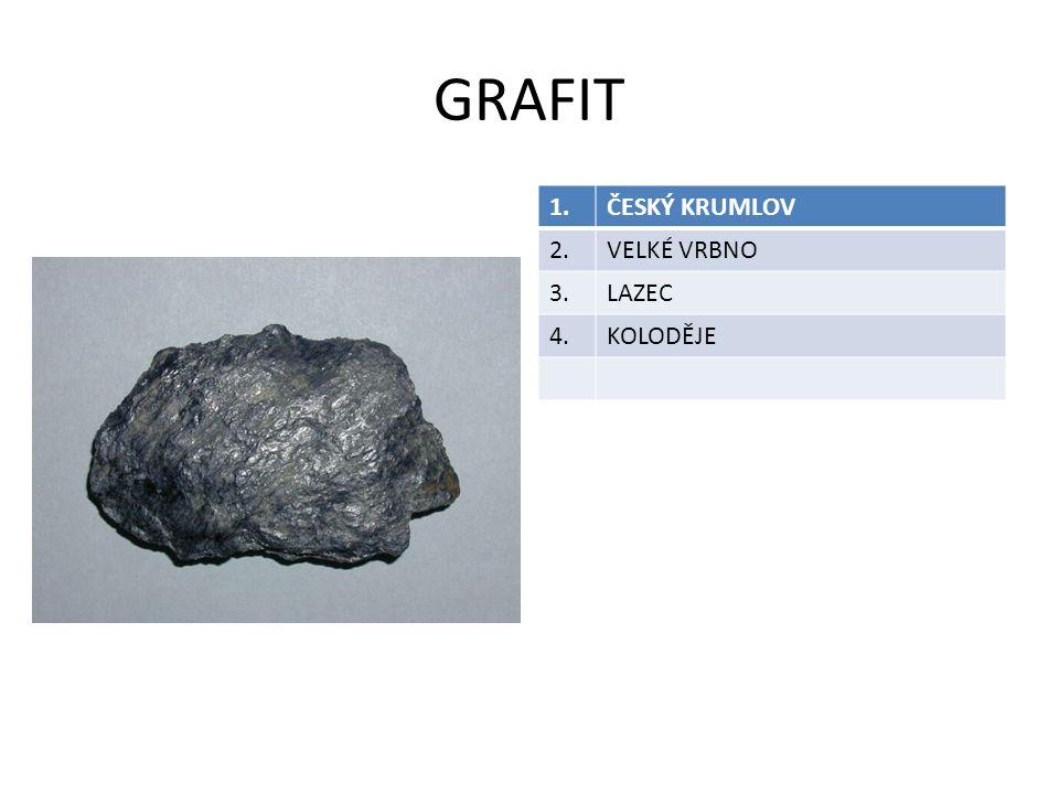 GRAFIT 1.ČESKÝ KRUMLOV 2.VELKÉ VRBNO 3.LAZEC 4.KOLODĚJE