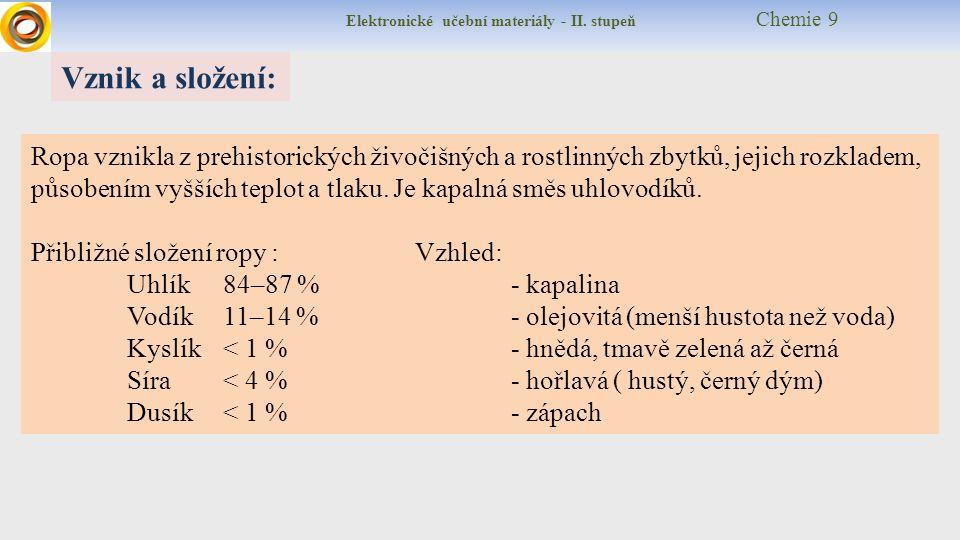 Elektronické učební materiály - II.stupeň Chemie 9 Kde se těží .