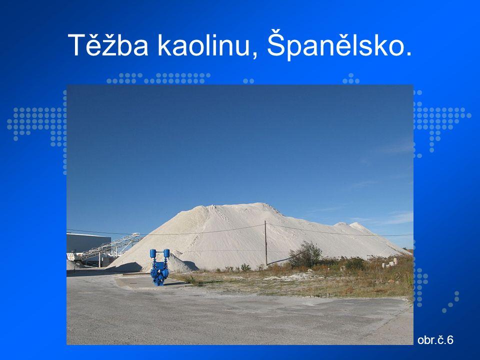 Těžba kaolinu, Španělsko. obr.č.6