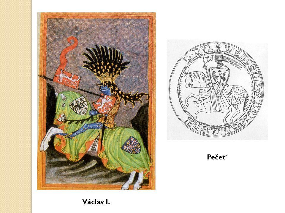 Král Přemysl Otakar II.(1253-1278), král železný a zlatý nejmocnější panovník 13.