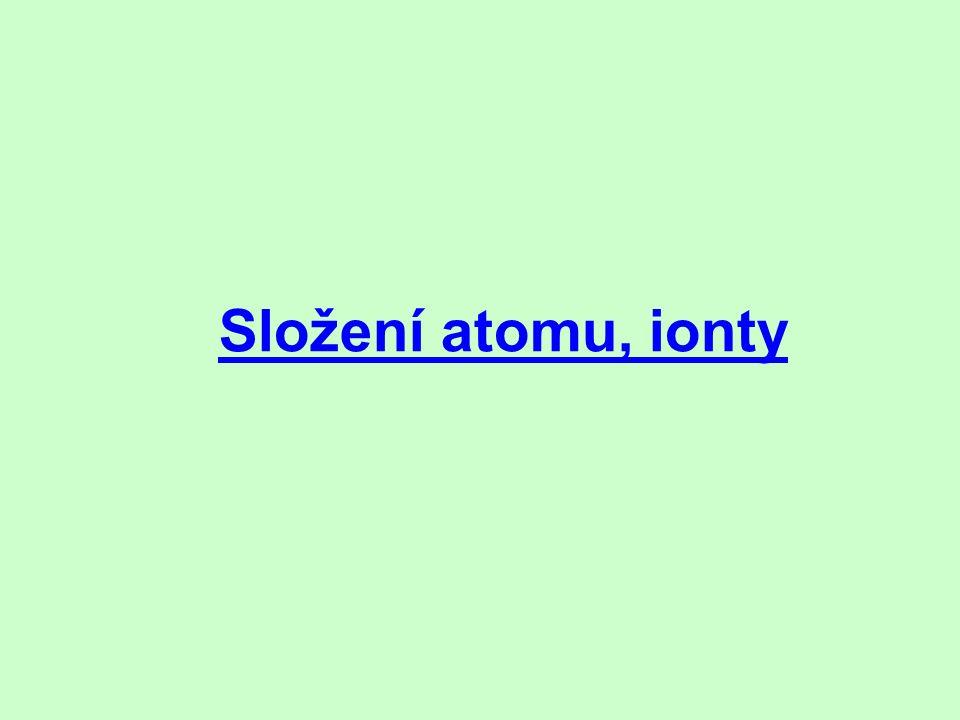 Složení atomu, ionty