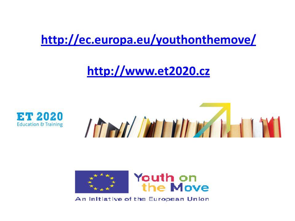 http://ec.europa.eu/youthonthemove/ http://www.et2020.cz