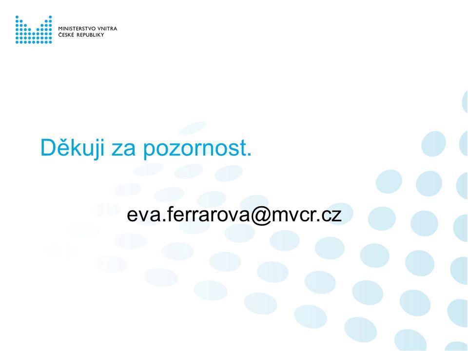Děkuji za pozornost. eva.ferrarova@mvcr.cz