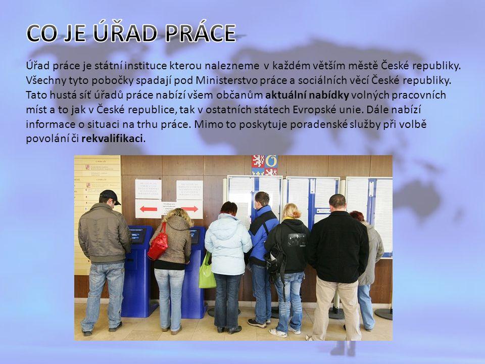 Úřad práce je státní instituce kterou nalezneme v každém větším městě České republiky.