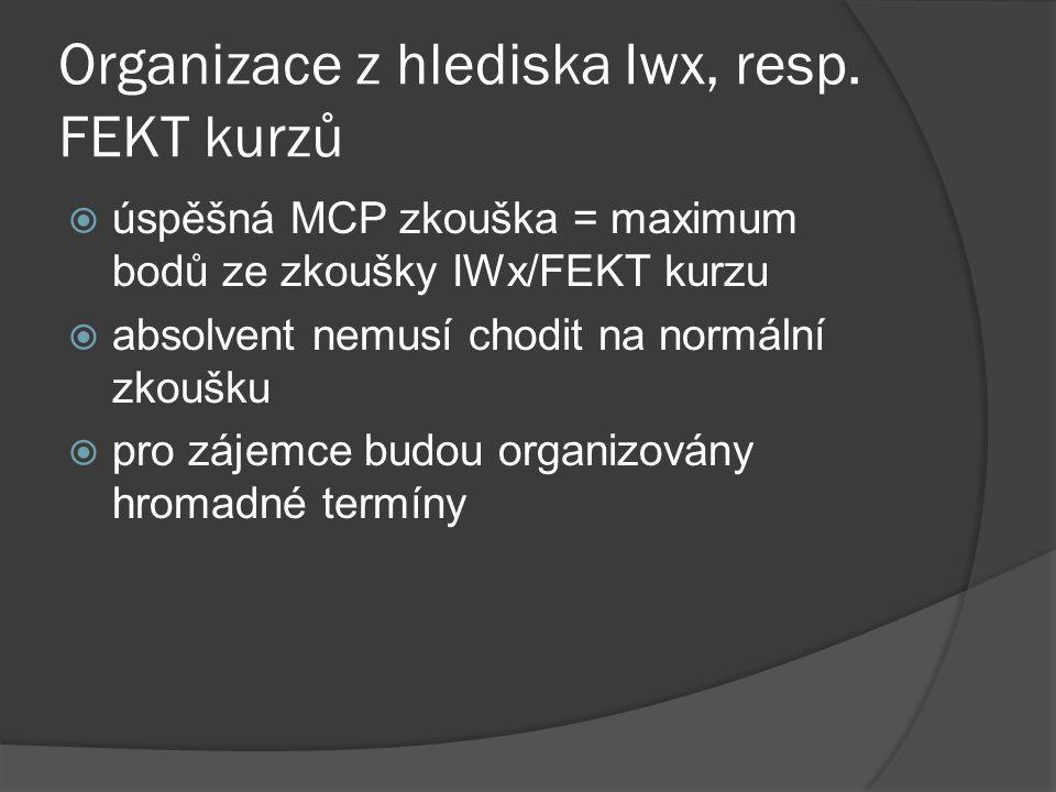 Organizace z hlediska Iwx, resp.