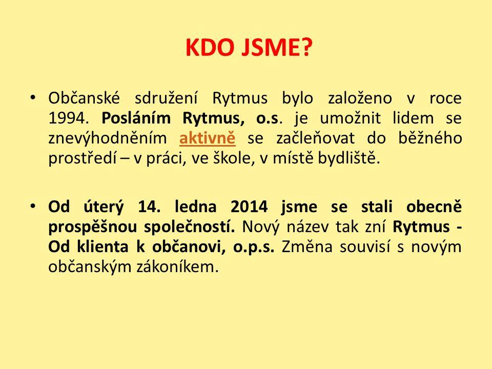 KDO JSME. Občanské sdružení Rytmus bylo založeno v roce 1994.