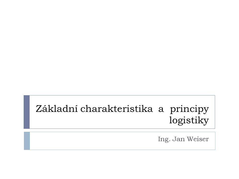 Základní charakteristika a principy logistiky Ing. Jan Weiser