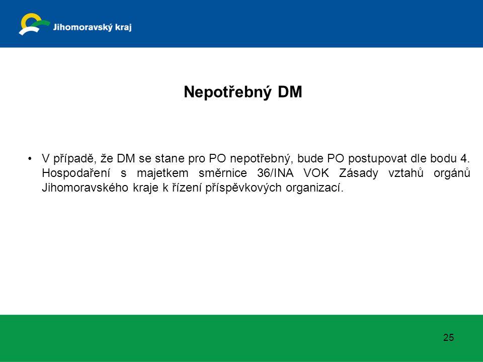25 V případě, že DM se stane pro PO nepotřebný, bude PO postupovat dle bodu 4.