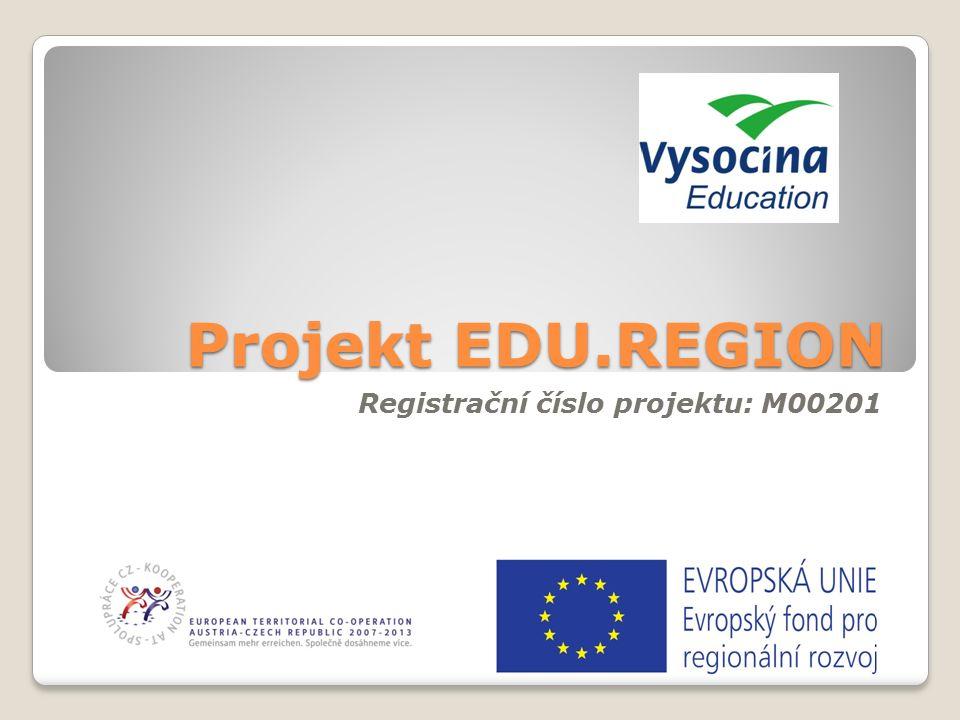 Projekt EDU.REGION Registrační číslo projektu: M00201