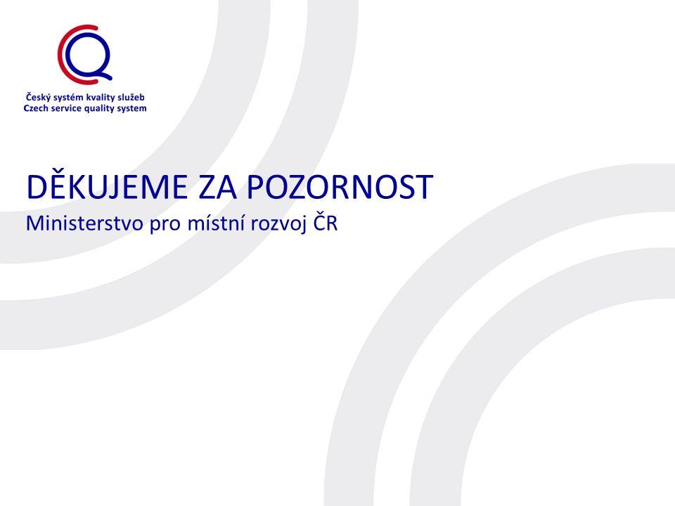 DĚKUJEME ZA POZORNOST Ministerstvo pro místní rozvoj ČR