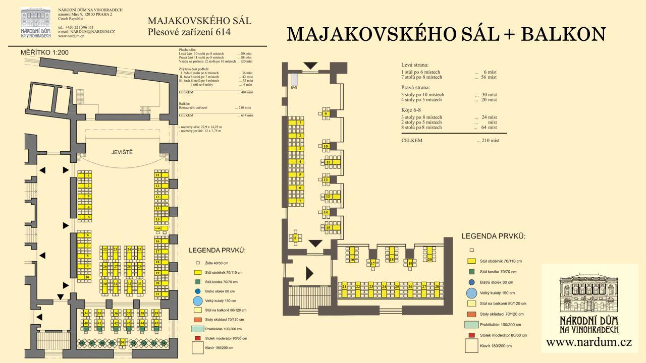 MAJAKOVSKÉHO SÁL + BALKON