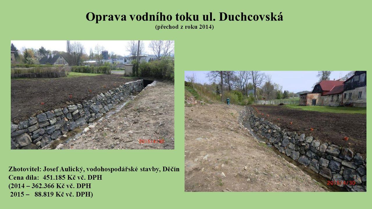 Oprava vodního toku ul.