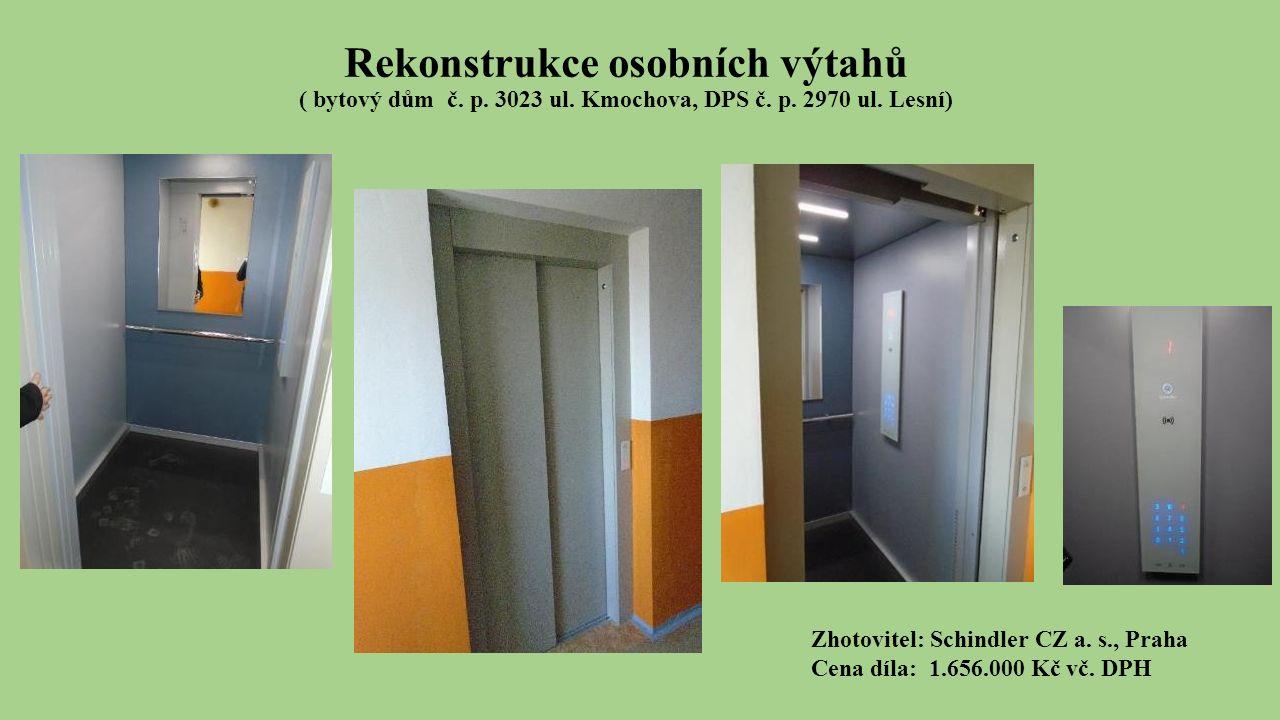 Rekonstrukce osobních výtahů ( bytový dům č. p. 3023 ul.