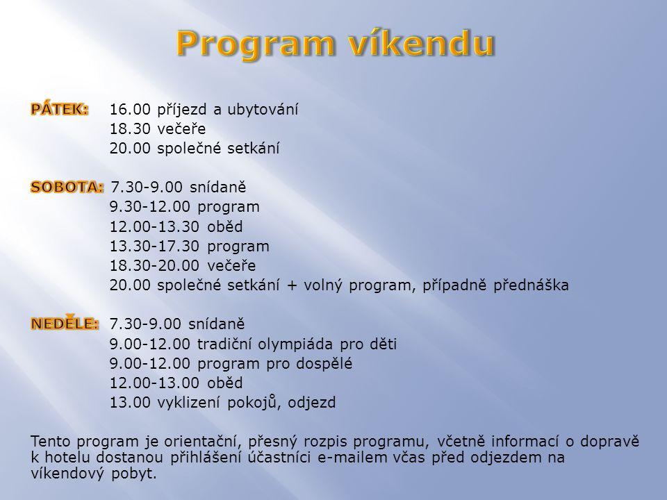Nad Pisárkami 276/1 623 00 Brno GPS: 49°11 19.115 N 16°33 12.607 E  Příjezd na místo a ubytování.